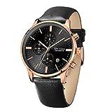 DECJ Herren-Uhr Multi-Funktion Timing Sport Wasserdichtes Silikon Quarz Männer Armband Uhr Geschenk,C