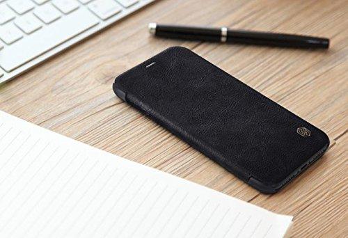BCIT iPhone X Cover - Alta Qualità Slim Custodia in pelle , Flip Cover Leather Case Per iPhone X - Nero Nero