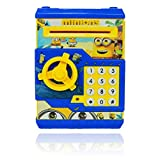 #4: VG Toys & Novelties Cartoon Printed Money Safe Kids Piggy Savings ATM Bank with Electronic Lock ... (Minion)