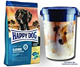 2 x 12,5 kg + Futtertonne 43 Liter Happy Dog Supreme Sensible Karibik