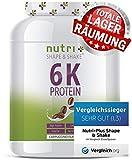 EIWEIßPULVER CAPPUCCINO 1kg - Nutri-Plus Shape & Shake ® Eiweiß mit Koffein - Mehrkomponenten Protein Pulver - ohne Laktose - In Deutschland hergestellt - ideal zum Muskelaufbau