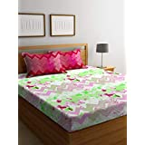 Bombay Dyeing Cynthia Polycotton Double Bedsheet with 2 Pillow Covers - Green
