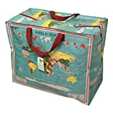 dotcomgiftshop Grand sac de rangement Jumbo Bag Carte du monde Earth