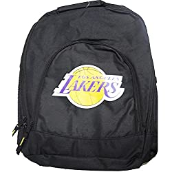 Forever Collectibles NBA Los Angeles Lakers Back To School Backpack Black Bag Rucksack Tasche