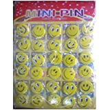 1c57dca2b21 Jiada Big Size 4 CM Smiley Emoji Colourful Expressions Button Pins Badge  Brooch - Set of
