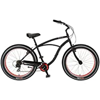 Bicicleta Sun Baja Cruz Mens Negra 7V