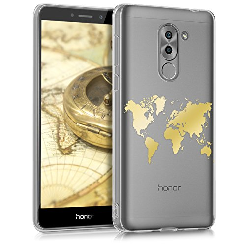 kwmobile Huawei Honor 6X / GR5 2017 / Mate 9 Lite Hülle - Handyhülle für Huawei Honor 6X / GR5 2017 / Mate 9 Lite - Handy Case in Gold Transparent