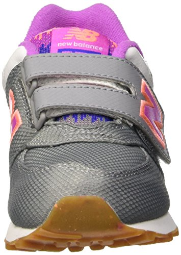 New Balance 574V1, Baskets Basses Mixte Enfant Gris - Grigio (Grey Pink)