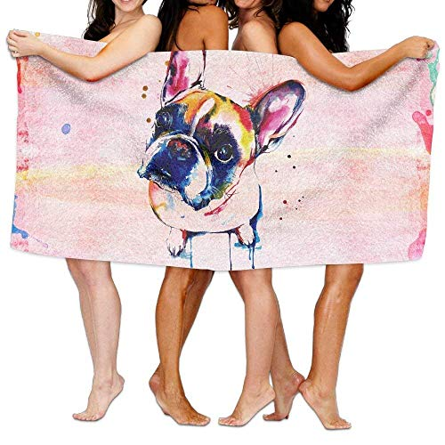 """jinhua19 Strandtücher Handtücher French Bulldog Bath Towel Colorful Beach/Bath/Pool Towel 51"""" X 31"""""""