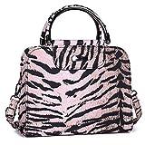 generisch Lackhandtasche | Leoparden Reisetasche-Handtasche | Bügeltasche mit Reißverschluss | mit...