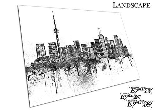 Kanada-spray (Poster Druck schwarz & weiß Painterly Spray Paint City of Toronto in Ontario Kanada - a2)