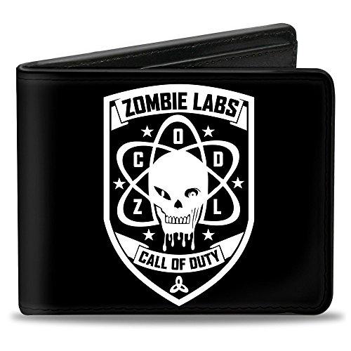 Buckle Down unisex - erwachsene Wallet Call Of Duty-zombie Labs Badge Black/white Zweifalten-Geldbörse - mehrfarbig - Zombie Lab