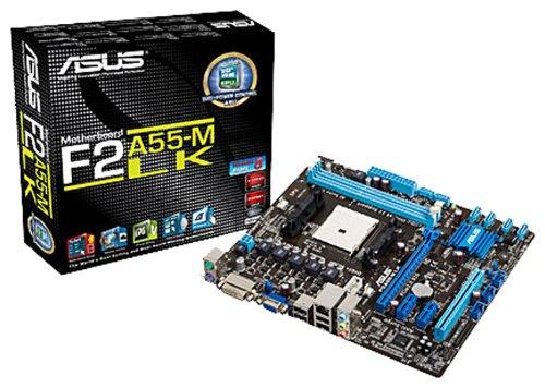 Asus F2A55-M LK Mainboard Sockel FM2 (AMD A55, micro-ATX, 2x DDR3, 6x SATA II, VGA, DVI, 5.1 Audio, 4x USB 2.0) (Channel Dual Chip-set)