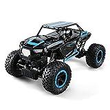 Zzlush RC Eccellente 4WD off-Road Car 2.4G 4WD off-Road Buggy Mini RC Auto Doppi Motori Rock Crawler Rally Climbing Car Telecomando Bigfoot Auto Monster Truck 01:14 (Color : Blu)