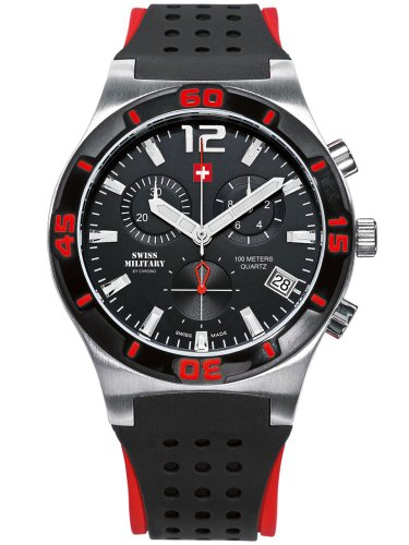 Swiss Military By Chrono Analogue Black Dial Men's Watch SM34015.06