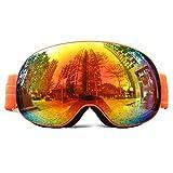 OTG Ski Schneemobil Brille, Professionelle kugelförmige Schneebrille Doppellinse anti-beschlag UV schutz