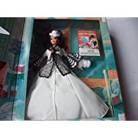 Barbie Hollywood Legends Collection Barbie As Scarlett O'Hara in White Dress By Mattel in 1994 - box is not in mint condition