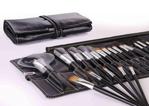 Davidsonne Professionnel Fond de Teint Poudre Blush cosmétiques Maquillage Brush Set étui en cuir (Lot de 24)