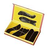 EQLEF Buffalo Horn Gua Sha Gua Sha Conseil outil de massage (cinq pièces)
