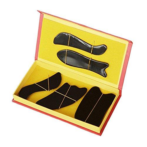 Tool Box Us-general (EQLEF® Buffalo Horn Gua Sha-Massage-Werkzeug Guasha Vorstand (fünf-teiliges Set))
