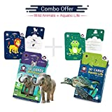#5: Wild animals + Aquatic Animals | Age 3-10 Years | AR/VR based Educational Toys for Children | Better Than legacy Montessori Material | Gift Box of 2
