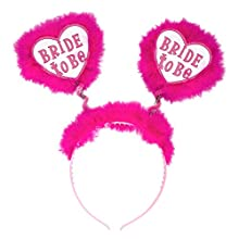 Bride To Be Head Boppers - White Random Style & Theme Hats Caps & Headwear for Fancy Dress Costumes Accessory
