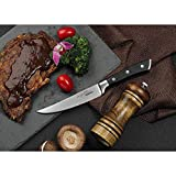 SKY LIGHT Couteaux à Steak Set Couteau de Tables Couteau 4 Couteau a Steaks de...