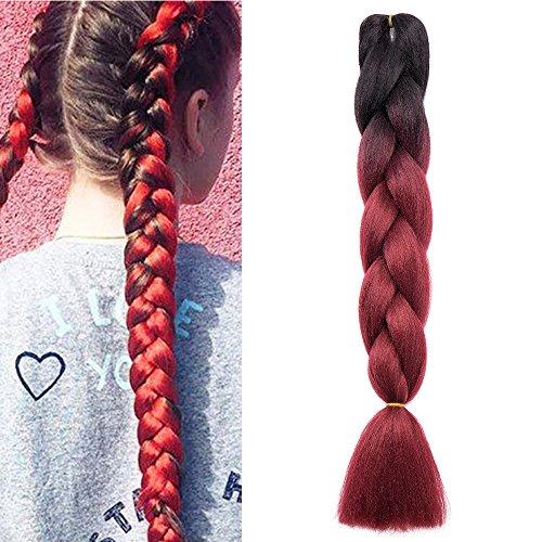 100g 1 bundle treccia capelli extension treccine kanekalon hair sintetici lunghi 60cm 24