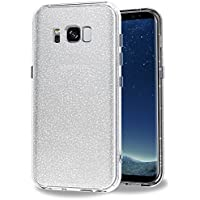 iVoler Coque Compatible avec Samsung Galaxy S8, [Ultra Glitter Crystal Quartz Silicone en Gel TPU Souple] Housse Etui Coque de Protection avec Absorption de Choc et Anti-Scratch