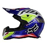 Woljay Off Road Helm Motocross-Helm Motorradhelm Motocrosshelme Fahrrad ATV (M, Blau)
