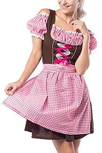 Partychimp Anne-Ruth, Vestido para Mujer, Marrón/Rosa, 38 (Anne-Ruth)