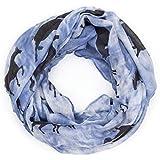 ManuMar Loop-Schal für Damen   Hals-Tuch mit Pferde-Motiv als perfektes Sommer-Accessoire   Schlauch-Schal - Das ideale Geschenk für Frauen