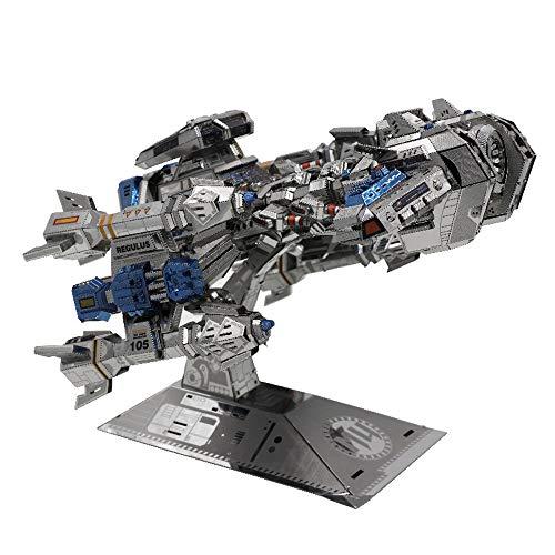 MU 3D Metall Puzzle Starcraft Battle Cruiser Battleship Modell Kits YM-N015 DIY 3D Laserschnitt Modell-Bausatz Spielzeug