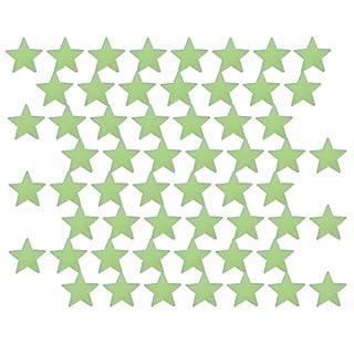 Anladia Wandtattoo Sternenhimmel fluoreszierende Leuchtsterne selbstklebend Wandsticker f Kinderzimmer Schlafzimmer viele Motiv (50xSterne(4.2cm))