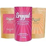 Erygut Back Bundle Puder 700g + Vanille 150g + Geliermix 230g | Süßungsmittel für Low Carb und Ketogene Diät | zum Süßen, Kochen und Backen