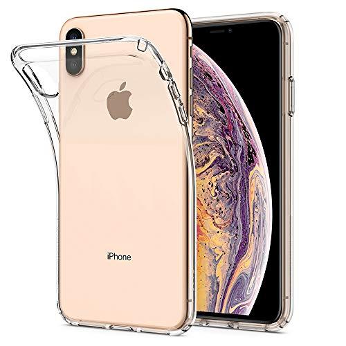 Spigen Liquid Crystal Funda iPhone XS MAX con Protección TPU Flexible y Ligero para iPhone XS MAX 6.5' (2018) - Transparente