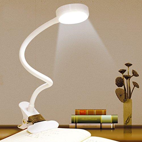 Ywyun Sparende LED-Lampe, eine flexible Schwanenhals, Augen USB-Ladelampe, Schreibtischbeleuchtung Schlafzimmer Bett, 37,5 * 11cm