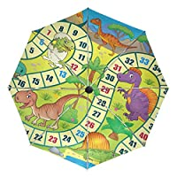 Umbrella Customize 3 Folds Funny Animal Cartoon Dinosaur Board Game Windproof Auto Open Close Lightweight Anti-UV