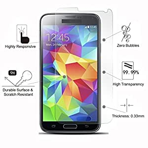 Mkare 2.5D Curved Edge Crystal Clear, 9H Hardness Tempered Glass Screen Protector For Samsung Galaxy Core 2 SM-G355