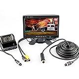 """HitCar 7 """"pulgadas HD Monitor con CMOS de marcha atrás cámara de visión nocturna Kit de aparcamiento para autobuses / camiones (Choque / enchufe a prueba de agua)"""