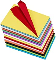 OFIXO 100 pcs Color Sheets (10 Sheets each color ) Copy Printing Papers / Art and Craft paper A4 Sheets Double