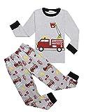 Bricnat Jungen Zweiteiliger Schlafanzug Kinder Baumwolle Lange Nachtwäsche Hai Kinder Pyjama Slim Fit von 2 bis 10 Jahren