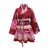 GRACEART Yukata Kimono Costume Cosplay Impostato (Rosso)