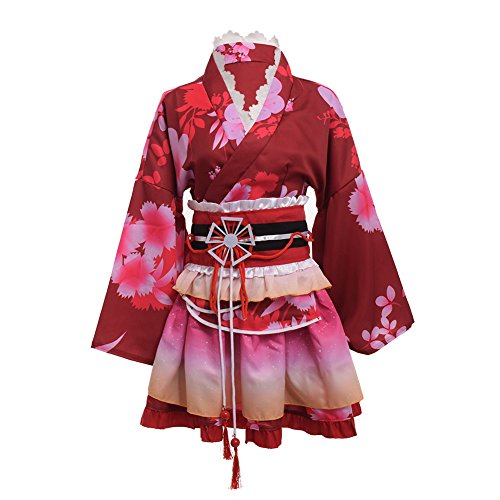 no Kostüm Cosplay Einstellen (Rot) (Traditionelle Kostüme Kimono)