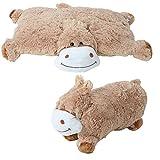 2 in 1 Tierkissen Tiermotive Plüschkissen Kissen Kuscheltier liegend stehend Nilpferd