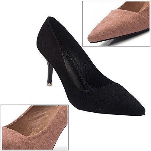 Bozevon Chaussures De Soirée À Talons Hauts Pour Femmes De Mode Talons Hauts Nice Stilettos - 8cm, Noir Noir-8cm
