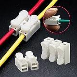 Sedeta 30PCS x 2P Federstahldraht Steckverbinder Kabelklemme Klemmenblock-Verbindungs LED-Streifen-Licht-Draht-Ans