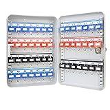 HMF 13049-07 Cassetta Portachiavi Armadietto Chiave per 49 Chiave, 32 x 23 x 7,5 cm, grigio chiaro