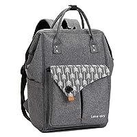 Lekesky Laptop Backpack 15.6 Inch Computer Rucksack for Men Women, Black ...