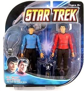 STAR TREK The Original Series- Figurine Mr Spock et Scotty